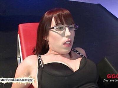 Nerdy girl loves cum on her glasses   -cum-cum on tits-girl-glasses-love-nerd-