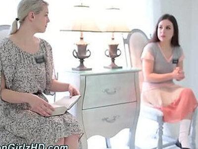 Tied mormon licks les | -bondage-sister-
