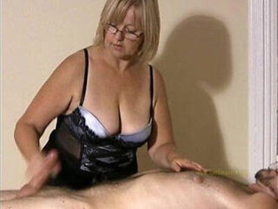 Big titted professional masseuse sensually massages client and his cock | -cock-massage-mature-titjob-