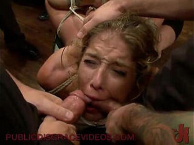 Bound in public groped and fucked | -domination-public-