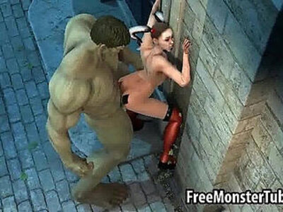 3D Harely Quinn gets fucked outdoors by The Hulk | -3d-bizarre-outdoor-