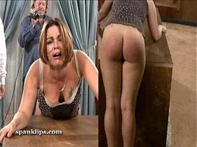 Upset bruntte is taken a serious spanking | -german-spanking-