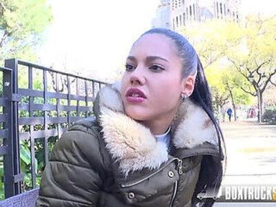 Hot Teen Apolonia Lapiedra Fucks the Model Agent in Public | -agent-model-public-teen-