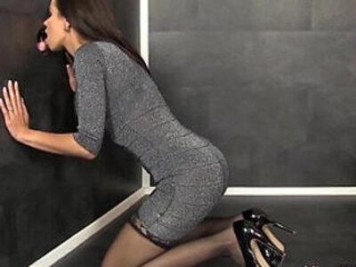 Facialized high heel babe | -babe-bukkake-facials-high heels-