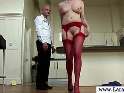Mature milf in stockings bent over kitchen table and fucked | -kitchen-mature-milf-mommy-stockings-table-