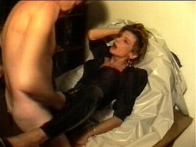 Sperm traudl with crotchopen pvc trousers gets fuck without foreplay | -brutal-sperm-
