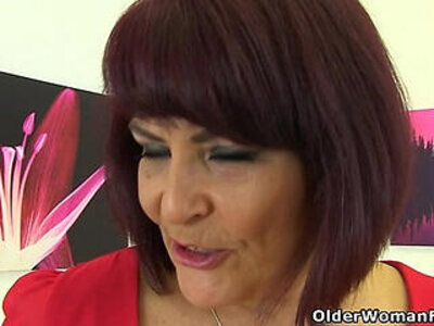 British milf Christina X slides her fingers in | -british-fingering-wet-