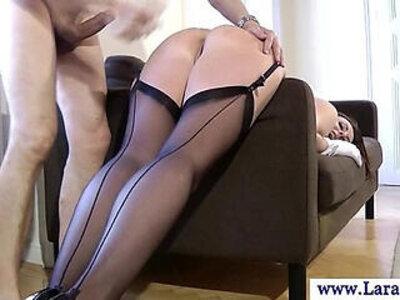 Mature european stockings fucked hard from behind | -ass fucking-european-mature-stockings-
