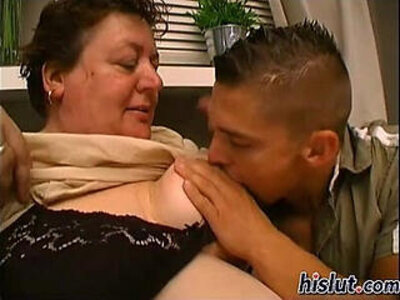 Slutty granny gets pounded by a young stud | -pounding-slutty-students-young-