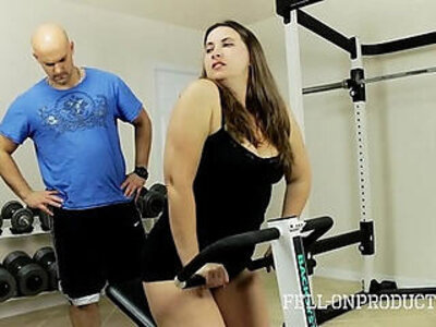 Workout stepmoms hot wet pussy in gym | -fitness-stepmom-wet-