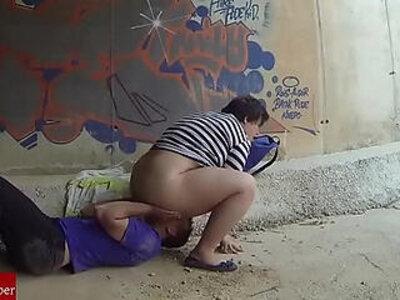 Chubby girl fucked in a tunnel | -chubby-freak-