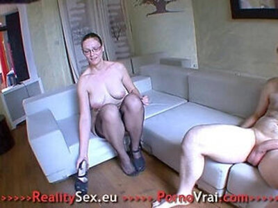 Sexy mature fuck each other with a stranger !! French amateur   -french-mature-sexy-stranger-