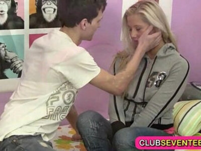 Small teen pussy hungry for a sausage | -girl on girl-hungry-pussy-teen-
