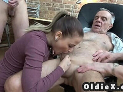 Old and young foursome | -4some-old and young-old man-