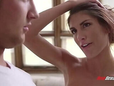 August Ames is naked in she stepbrother face and her fucks | -face fuck-naked-stepbrother-