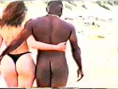 Interracial on the Beach   -beach-interracial-woman-