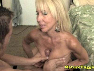 Handjob loving granny pampering dick | -dick-grandma-granny-handjob-