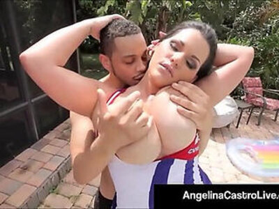 Cuban porn queen angelina castro gets a big black huge cock and cum | -bbc-black-cum-huge cock-huge tits-wild-