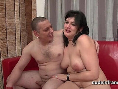 Anal casting of an Amateur french couple fucking with a chubby squirt slut hard plugged | -amateur-anal-casting-chubby-couple-european-