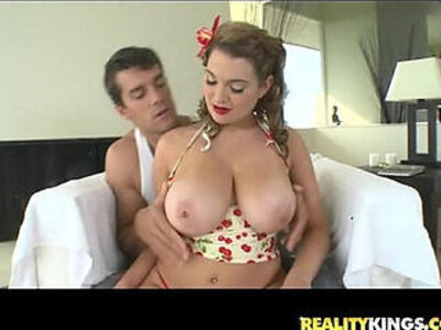 Cassandra calogera bares her huge juggs and gets pummeled by ramons cock | -cock-huge tits-juggs-