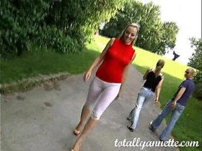 Annette Schwarz Piss Park | -park-peeing-tight-wild-
