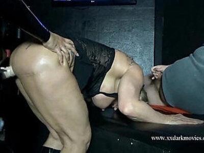 Muscle Milf is used hard in Danish sexclub   -milf-muscle-