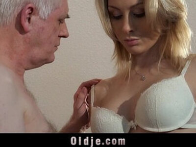 Old employer fucks blonde at an interview | -blonde-interview-old and young-older-