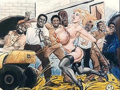 Slaves in bondage bdsm cartoon art | -animation-bdsm-bondage-cartoons-slave-