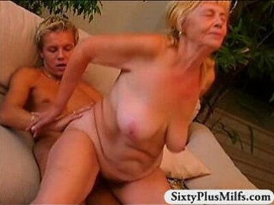 Granny enjoys a fine fresh dick   -dick-dirty-enjoying-granny-