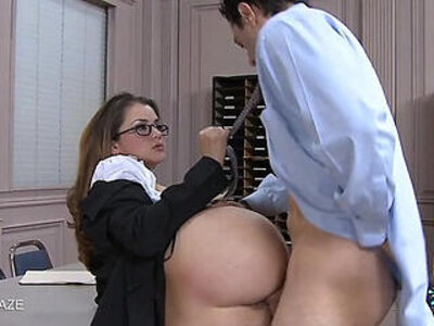 College cutie Allie Haze take cock | -cock-college-cute-glasses-