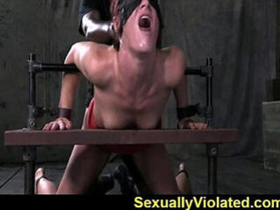 Tall milf bound in metal and leather of | -brutal-leather-milf-