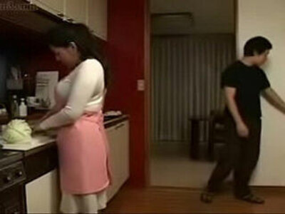 Japanese Stepmom and Son in Kitchen Fun | -asian-fun-japanese-kitchen-stepmom-