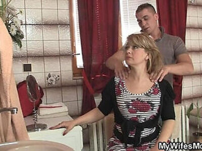 Mom rides son in law cock and his wife comes | -cheating-cock-mom-son-wife-