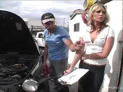 XXX at Work Receptionist Kiara Diane Fucks Mechanic   -boy-girl-