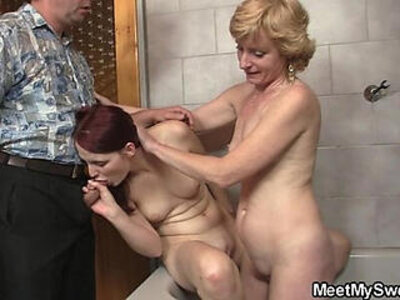 His old dad plows her pussy after mom licked it | -daddy-mom-older-pussy-