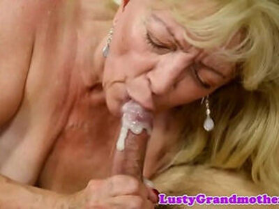 Chubby gilf banged after sucking a big cock   -banged-big cock-chubby-cock-gilf-granny-