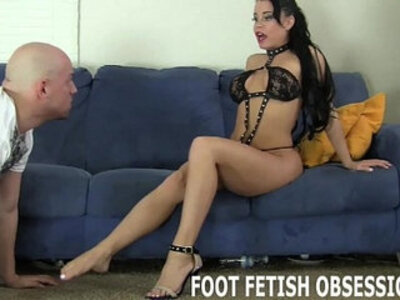 Get on your knees and worship my feet like a good slave | -foot-forced-slave-worship-