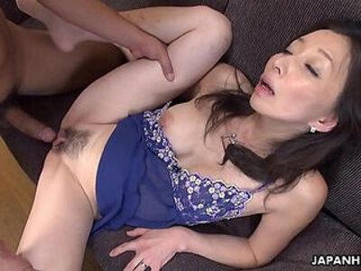 Mature slut gobbling on a pecker like a sex fiend | -japanese-mature-old man-sluts-