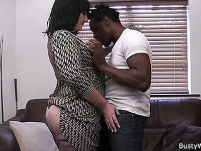 Busty mature lady boss in fishnets loves black meat | -black-boss-busty-cash-fishnets-lady-