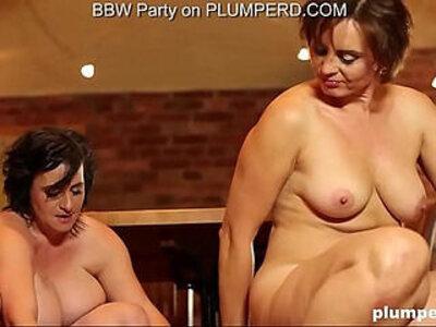 Mature Fat Ladies enjoying the cleaning boy   -boy-enjoying-fat-femdom-lady-mature-
