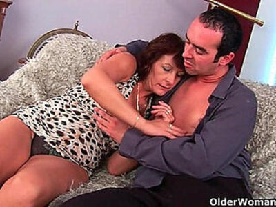 Grandma with hairy wet pussy sucks his pussy creamed cock   -cock-grandma-hairy-milf-pussy-wet-