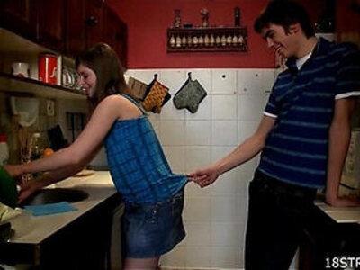 Amorous and wild kitchen sex | -banged-kitchen-wild-