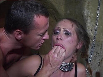 Mandy bright chained and double penetrated in her cunt   -cunt-double-