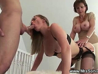 Cuckold watches kinky threesome | -3some-cuckold-kinky-woman-