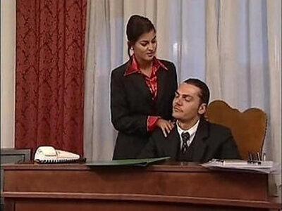 Hot secretary in mini skirt banged by her head office | -banged-italian-office-secretary-skirt-