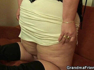 Plump mommy takes two young cocks | -cock-grandma-mommy-plump-young-