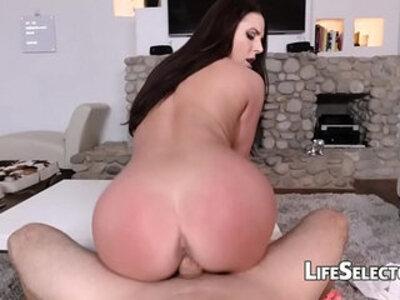 Busty MILF Angela White enjoys foot fetish with her cotenant | -busty-enjoying-foot fetish-titjob-white chick-
