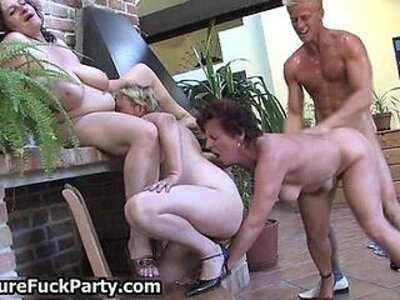 Three old ripe women with big | -gangbang-older-woman-