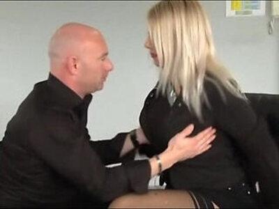 busty blonde Love Crystale branlette espagnole office | -blonde-busty-love-office-