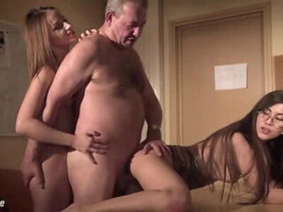 Sexy secretary joins in hardcore session with her boss and gets deep in her pussy fuck | -3some-boss-grandpa-hardcore-pussy-secretary-